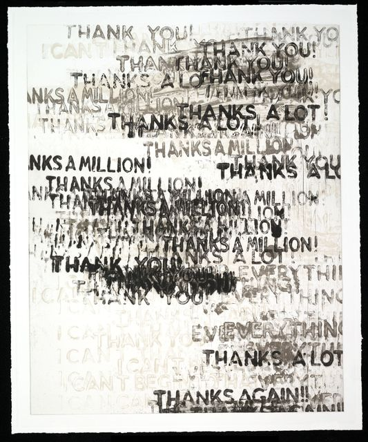 , 'Thanks,' 2015, Two Palms