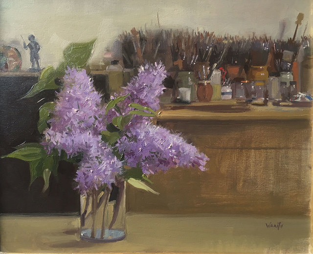 , 'Lilacs & Brushes,' 2016, Mall Galleries