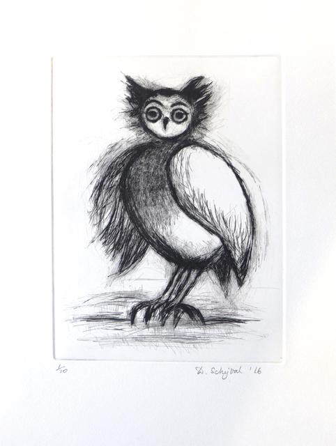 , 'Owl,' 2017, London Print Studio
