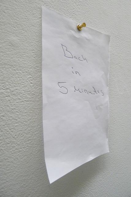 , 'DE RETOUR DANS CINQ MINUTES,' 2011, FOLD Gallery