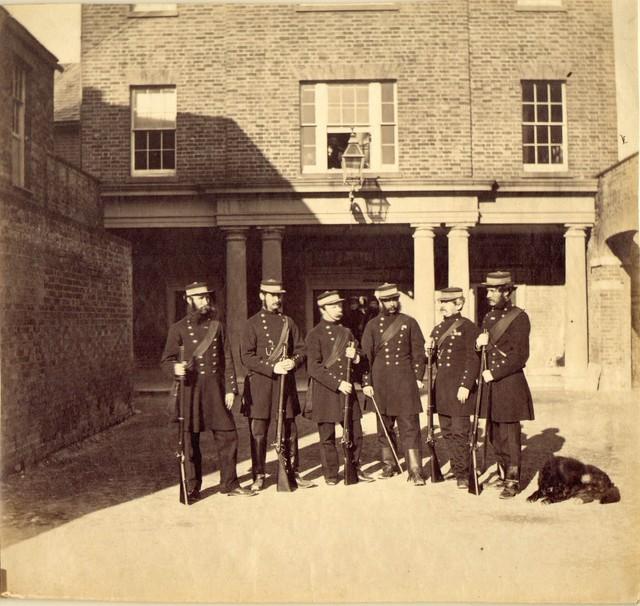 , 'Soldiers at Barracks (Woolwich?),' ca. 1856, Robert Hershkowitz