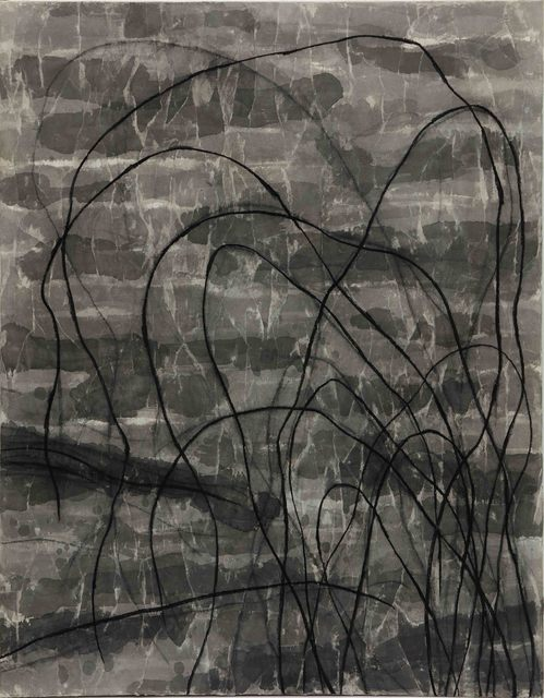 Hori Kosai, 'Touching so close and having an openness - 6', 2021, Painting, Japanese ink, charcoal, Chinese paper, canvas, Mizuma Art Gallery