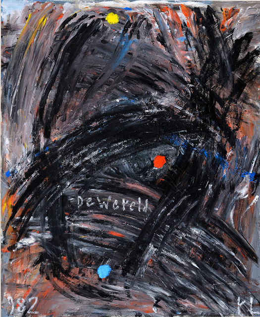 Reinier Lucassen, 'Dewereld', 1982, Painting, Oil on cardboard, Millon Belgium