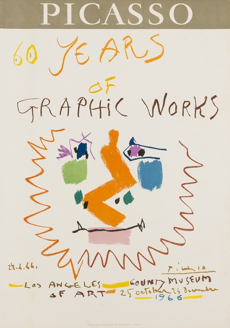 Pablo Picasso, '60 Years of Graphic Works (Mourlot 406)', 1966, Forum Auctions