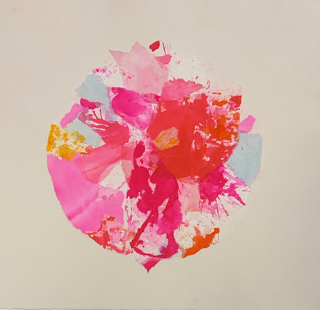 Margaret Manchee, 'Bloom', 2019, Drawing, Collage or other Work on Paper, Chin colle collage with washi paper, Firestation Print Studio