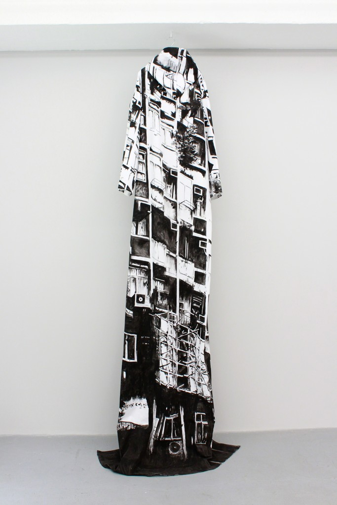 Shelter, 2017, Coat (Acrylic on linen), approx. 200 x 280 cm