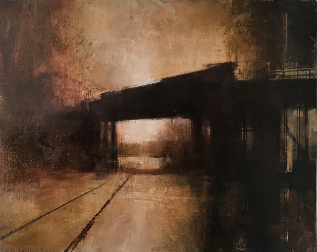 , 'January Bridge (Horizontal Study II),' 2018, West Branch Gallery