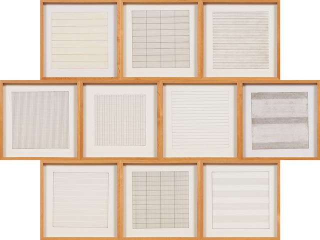 Agnes Martin, 'Paintings and Drawings : Stedelijk Museum Portfolio', 1991, Rago/Wright