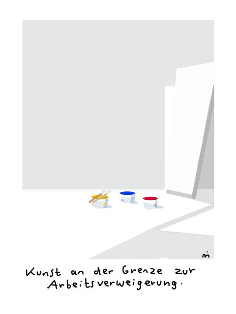 , 'Kunst an der Grenze zur Arbeitsverweigerung,' 2018, Galerie Floss & Schultz