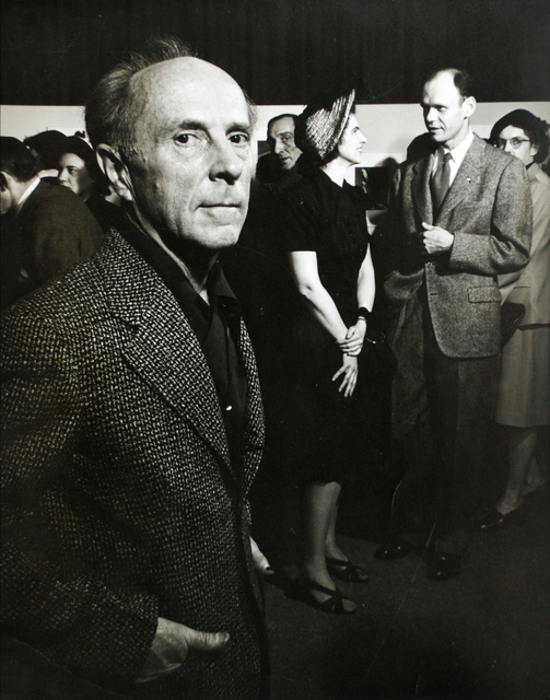 Morris Engel, 'Edward Weston and Beaumont and Nancy Newhall at Museum of Modern Art', 1947, Photography, Vintage gelatin silver print, Scheinbaum & Russek Ltd.