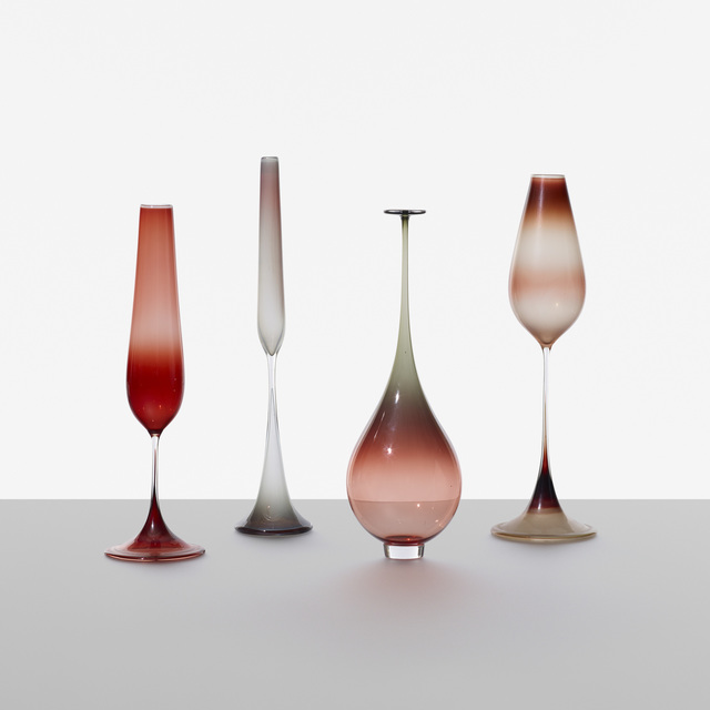 Nils Landberg, 'Collection of Four Tulpan Vases', 1957, Wright