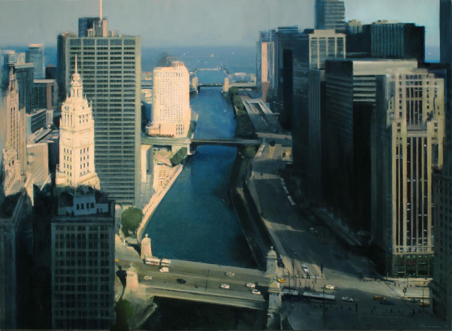 Ben Aronson, 'Chicago River From Above', 2016, Alpha Gallery