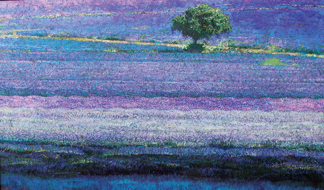 , 'Lavender Carpet,' 2017, Paul Scott Gallery & galleryrussia.com