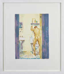 White Gown, Blue Rug, Sink and Bowl (three works)