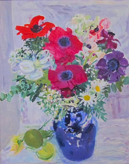 , 'Anemones and Candytuft in Blue Vase,' 1973, Reynolds Gallery