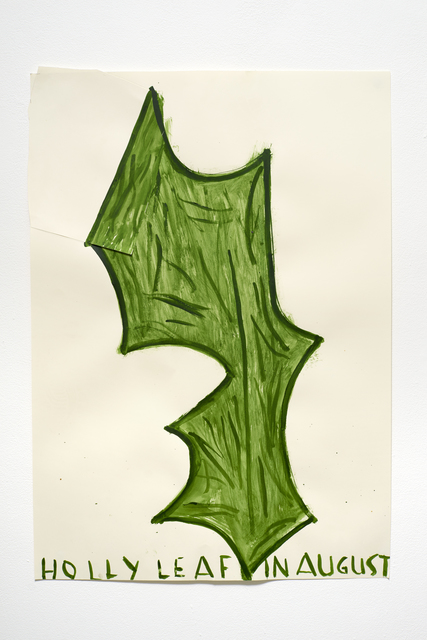 Rose Wylie, 'Holly Leaf', 2015, CHOI&LAGER