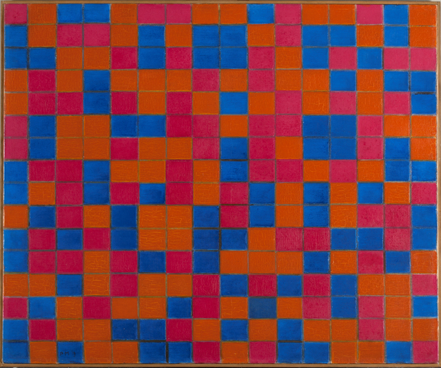 , 'Composition with Grid 8: Checker board Composition with Dark Colours,' 1919, Turner Contemporary