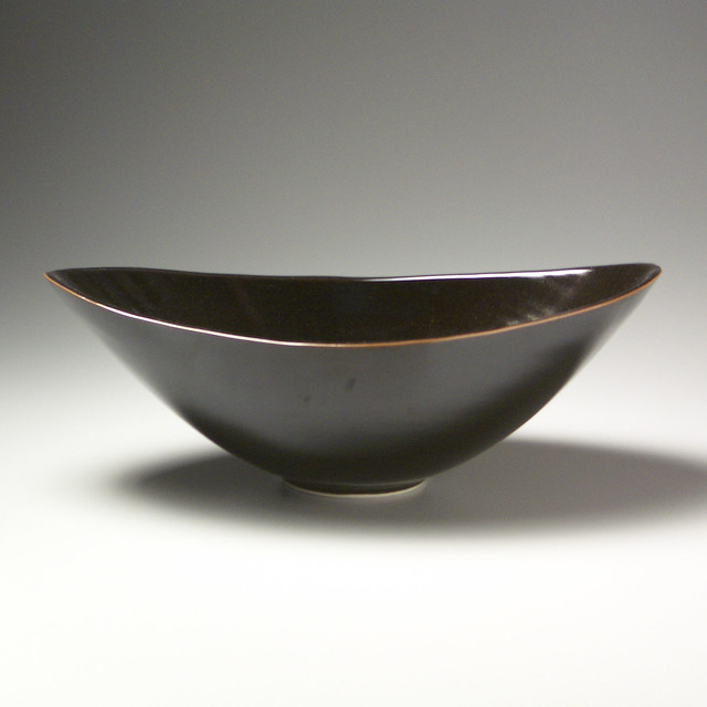 , 'Large Oval Bowl with Black Glaze,' 2000, LACOSTE / KEANE GALLERY