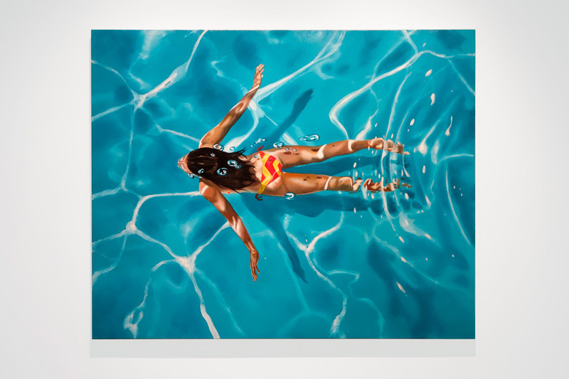 "Eric Zener, TAKEN BY THE CURRENT, Oil on Canvas, 48"" x 60"""