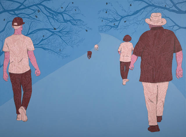 , 'Family Walk,' 2016, Bluerider ART