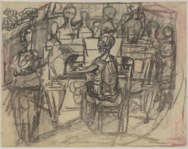 , 'Elsa Stenhammar vid pianot,' ca. 1940, Andréhn-Schiptjenko