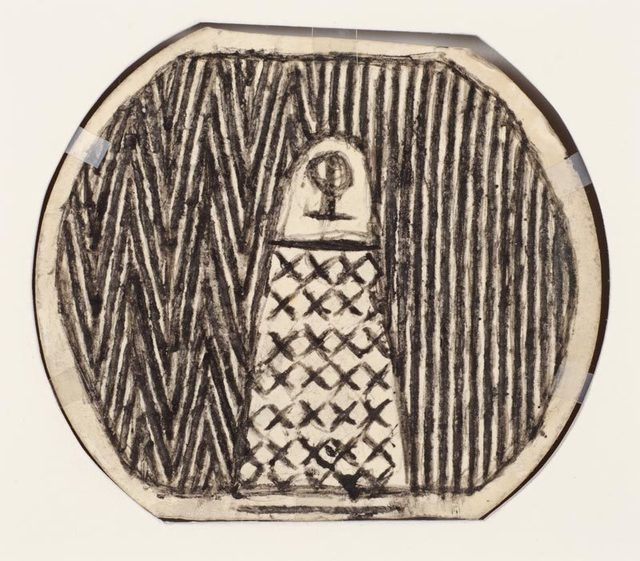 , 'Untitled (patterned figures, double sided),' n.d., Adams and Ollman
