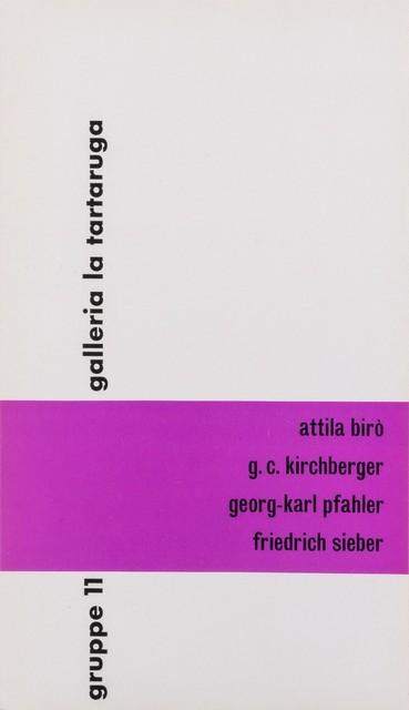 Various Artists, 'Gruppo 11', 1958, Finarte