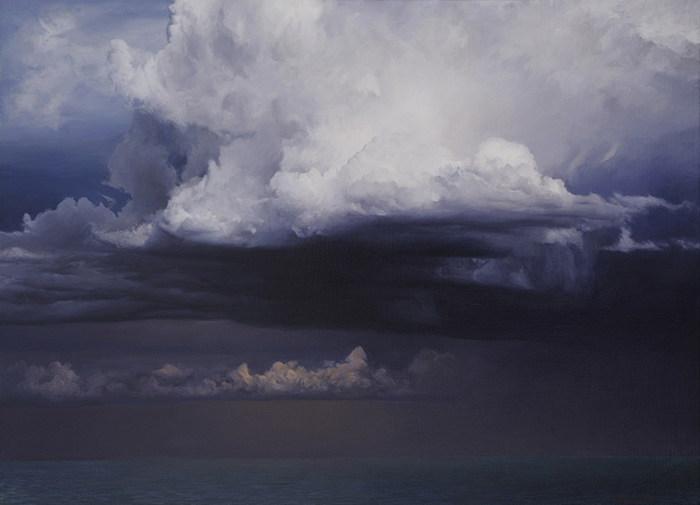 David Warren, 'Preliminary Study for 'Clouds at Coffs Harbour'', 2010, Painting, Oil on canvas, Charles Nodrum Gallery