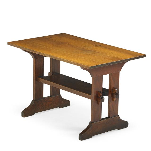 Gustav Stickley, 'Trestle Table, Eastwood, NY', ca. 1910, Rago/Wright