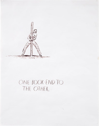 Untitled (One book end to the other - man to pole)