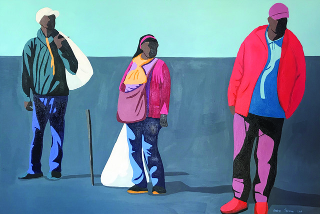 Shakes Tembani, '2 Men with Lady in the Middle', 2019, Opulent Living Gallery