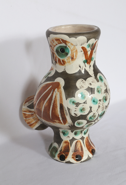 Pablo Picasso, 'Wood Owl (Ramie 543)', 1968, Design/Decorative Art, Turned Vase of A.R. White Earthenware Clay, knife engraved under partial brushed glaze, black patina, RoGallery