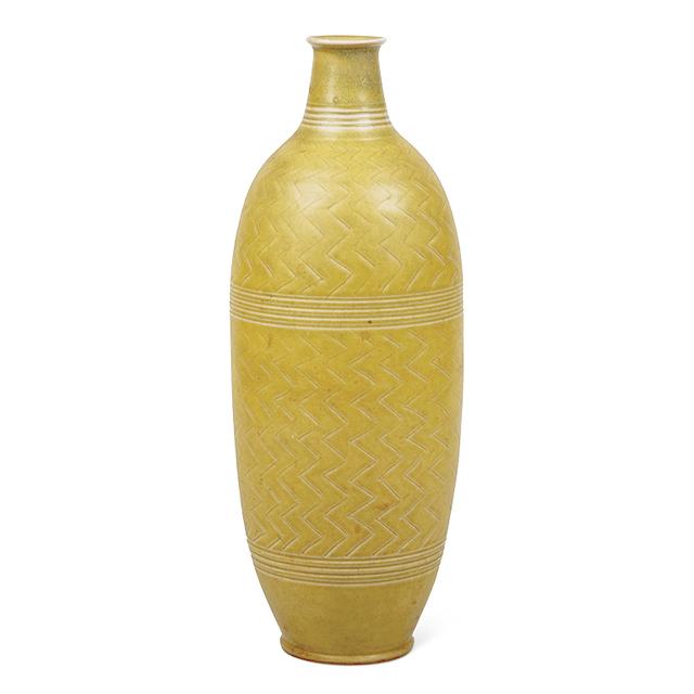 John Andersson, 'Tall lemon yellow vase', 1950, Gallery BAC