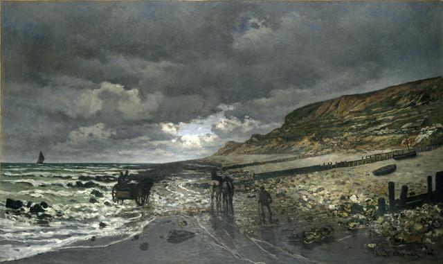 , 'La Pointe de la Hève at Low Tide,' 1865, Kimbell Art Museum