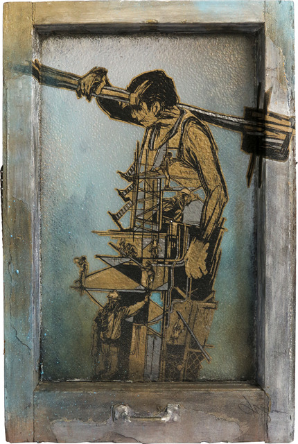 , 'Construction Worker 17,' 2019, Treason Gallery
