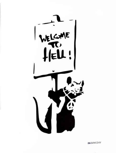 """Banksy, 'Banksy (After) """"Welcome to Hell""""', 2016, Leviton Fine Art"""