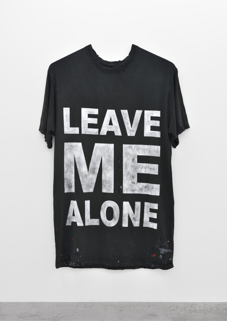 , 'Leave Me Alone (INVERTED WITH TIMESTAMP),' 2014, PRAZ-DELAVALLADE