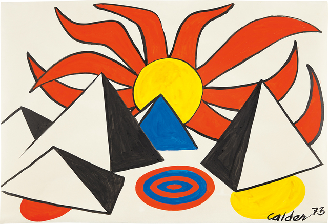 , 'Composition (Pyramids and Sun on Target),' 1973, Omer Tiroche Gallery