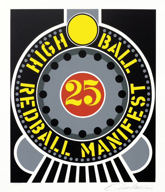 , 'High Ball Red Ball Manifest from the American Dream Portfolio,' 1997, New River Fine Art