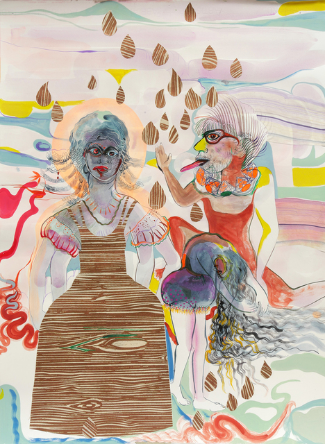 Rina Banerjee, 'Human stain, release us from fearing the fears of our others who are in pain. Stay awhile to listen to this unwanted stain, hiding, heard or frozen stares be gone as we come together, our girls, children to grow away from silence and her sister - shame', 2019, Hosfelt Gallery
