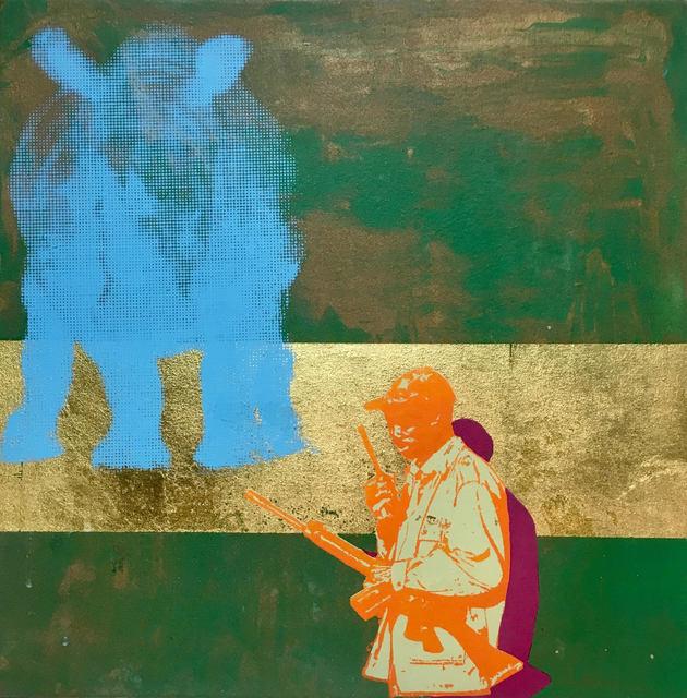 , 'unknown hero's series (blue rhino),' 2017, Kate Oh Gallery