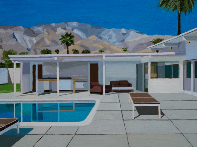 , 'Palm Springs, Under the Mountains,' 2016, Sue Greenwood Fine Art