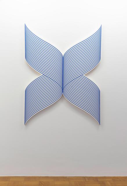 Philippe Decrauzat, 'X wave (reverse)', 2018, Painting, Acrylic paint on canvas, Galeria Nara Roesler