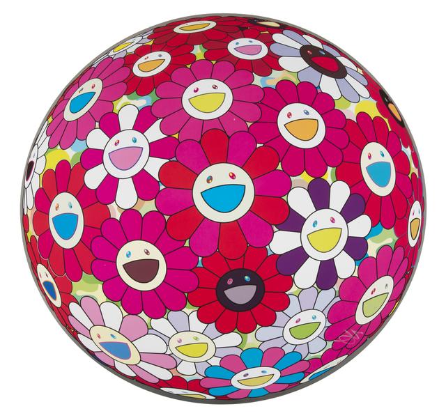Takashi Murakami, 'Flowerball(3D)-Turn Red!', 2013, Julien's Auctions