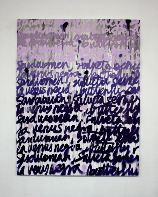 Avelino Sala, 'Political Artist (Ana Mandeita)', 2019, Painting, Water color and spray paint on canvas, RoFa Projects