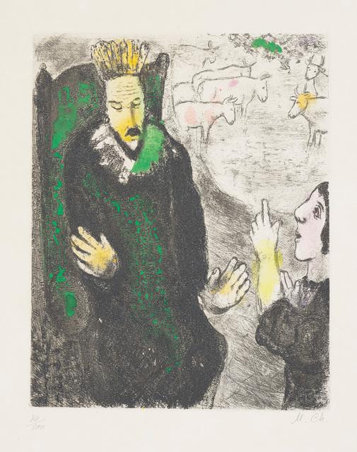 Marc Chagall, 'Le songe de Pharaon (The Pharaoh's Dream), plate 21 from La Bible', 1931-39, Phillips