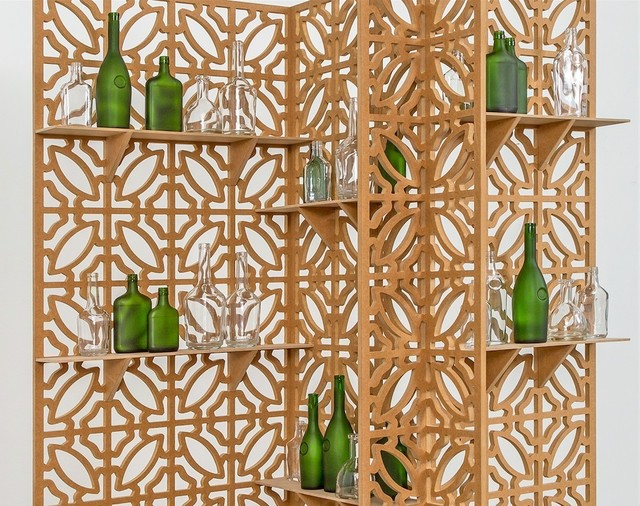 Edra Soto, 'Open 24 Hours / Home', 2018, Sculpture, MDF panels, shelves, 38 bottles of cognac (Rémy Martin, Hennessy, E&J, D'usse and Courvoisier), Morgan Lehman Gallery