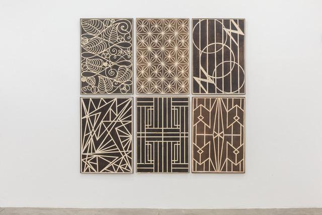 Luis Romero, 'Rejas', 2012-2014, Madera tallada y tinta / Carved wood and ink., Instituto de Visión