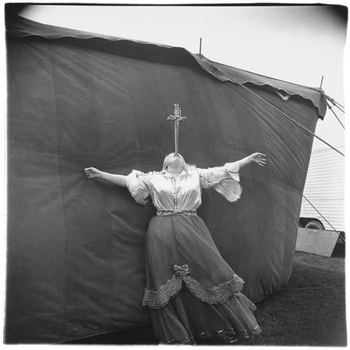 , 'Albino Sword Swallower at a Carnival, MD,' 1970, Robert Mann Gallery