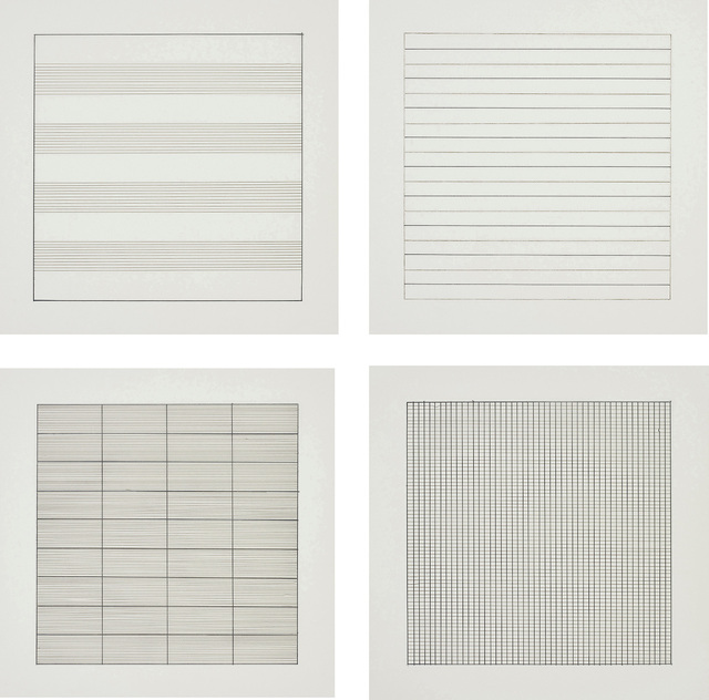 Agnes Martin, 'Paintings and Drawings 1974-1990', 1991, Books and Portfolios, The complete set of 10 lithographs in colours, on firm transparency paper, with full margins, with text, the sheets loose (as issued) all contained in the original grey card portfolio with printed uppers., Phillips